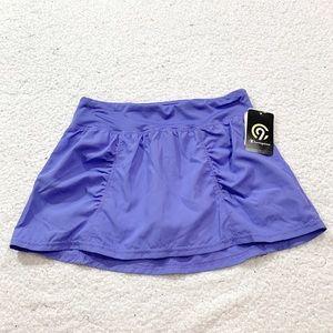 Champion girls purple woven athletic running skirt